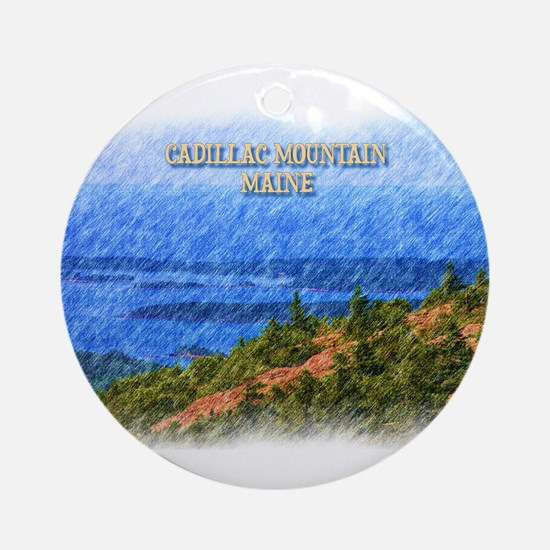 Cadillac Mountain, Maine Round Ornament