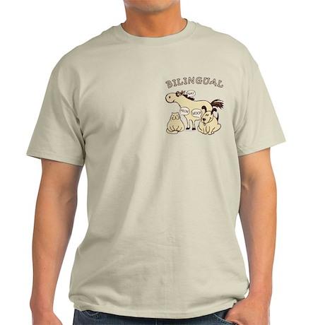 Bilingual, horse, cat, dog. Light T-Shirt