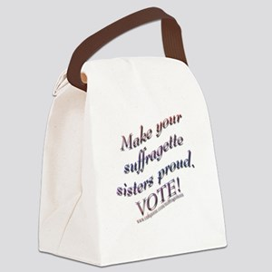 Suffragette Sisters tee Canvas Lunch Bag