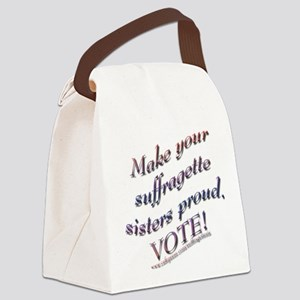 Suffragette Sisters Button 3 Canvas Lunch Bag