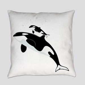 Killer Orca Whales Everyday Pillow