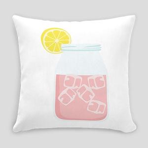 Glass Mason Jar Pink Lemonade Beverage Drink Every