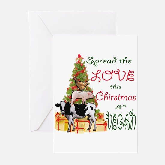 SPREAD THE LOVE ON CHRISTMAS, GO VE Greeting Cards