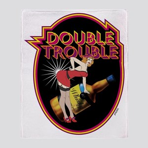 DOUBLE TROUBLE - Throw Blanket
