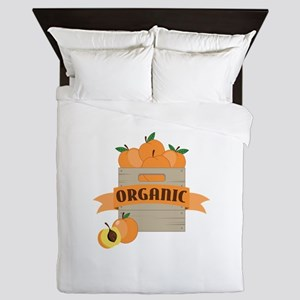 Organic Peaches Queen Duvet