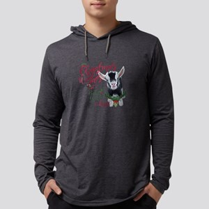 Christmas Wishes Baby Goat Kisse Mens Hooded Shirt