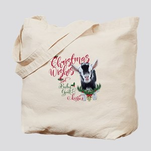 Christmas Wishes Baby Goat Kisses - Pygmy Tote Bag