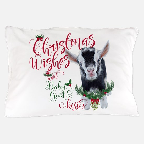 Christmas Wishes Baby Goat Kisses - Py Pillow Case
