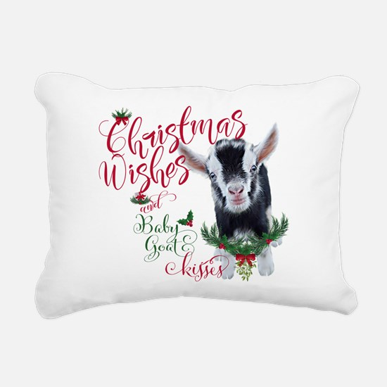 Christmas Wishes Baby Go Rectangular Canvas Pillow