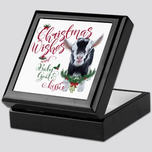 Christmas Wishes Baby Goat Kisses - P Keepsake Box