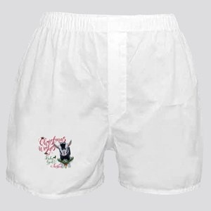 Christmas Wishes Baby Goat Kisses - P Boxer Shorts