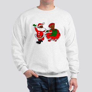 black santa mrs claus Sweatshirt