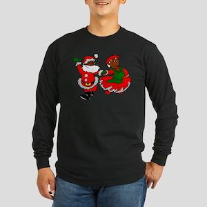 black santa mrs claus Long Sleeve T-Shirt