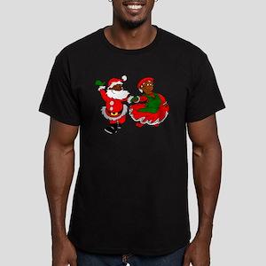 black santa mrs claus T-Shirt
