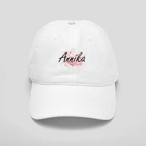 Annika Artistic Name Design with Flowers Cap