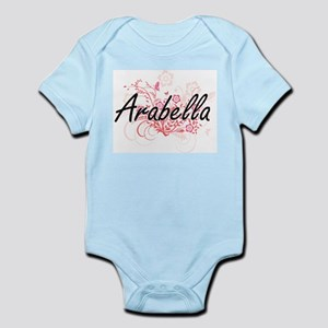 Arabella Artistic Name Design with Flowe Body Suit
