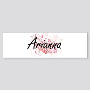 Arianna Artistic Name Design with F Bumper Sticker