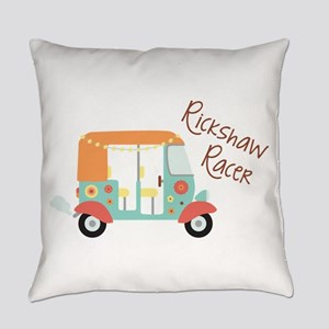 Rickshaw Racer Everyday Pillow