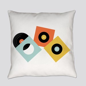Vinyl Records Everyday Pillow