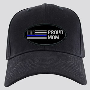 Police: Proud Mom Black Cap with Patch