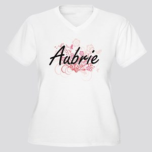 Aubrie Artistic Name Design with Plus Size T-Shirt