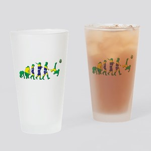 Evolution of Brazil Football Drinking Glass