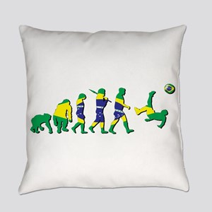 Evolution of Brazil Football Everyday Pillow