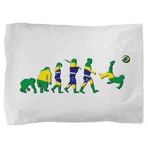 Evolution of Brazil Football Pillow Sham
