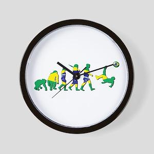 Evolution Of Brazil Football Wall Clock