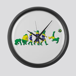 Evolution of Brazil Football Large Wall Clock