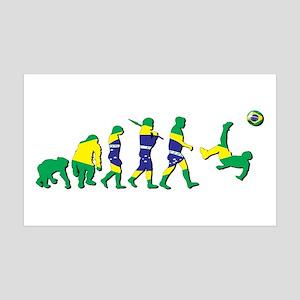 Evolution of Brazil Football Wall Decal