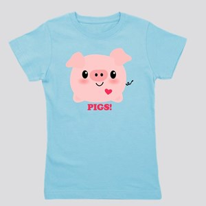 Kawaii I Love Pigs Girl's Tee