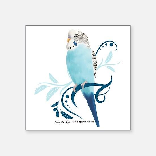 Blue Parakeet Sticker