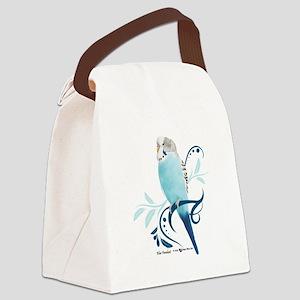 Blue Parakeet Canvas Lunch Bag