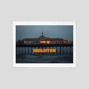 BRIGHTON PIER-PRO PHOTO 5'x7'Area Rug