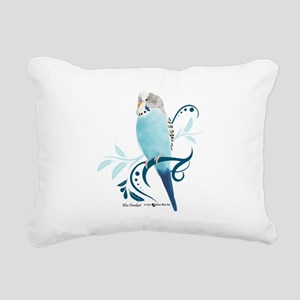 Blue Parakeet Rectangular Canvas Pillow