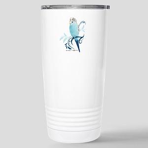 Blue Parakeet Stainless Steel Travel Mug