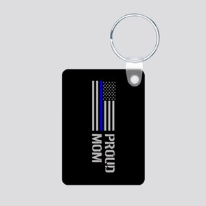 Police: Proud Mom Aluminum Photo Keychain