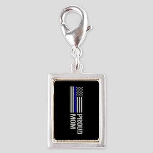 Police: Proud Mom Silver Portrait Charm