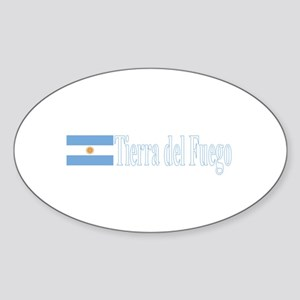 Tierra del Fuego, Argentina Oval Sticker