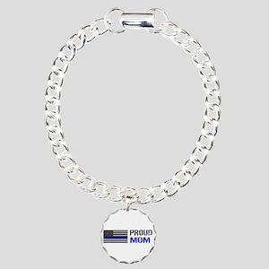 Police: Proud Mom Charm Bracelet, One Charm