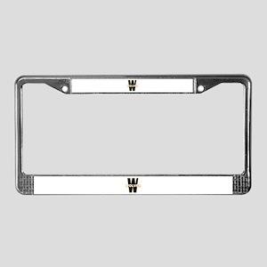 W Wolves License Plate Frame