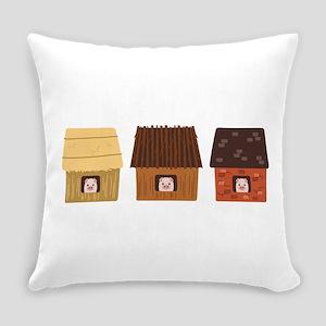 Three Pigs Everyday Pillow