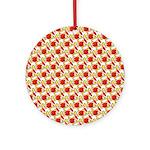 Christmas Clownfish Pattern Round Ornament