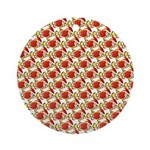 Christmas Clownfish Pattern Round Ornament
