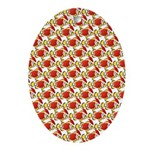 Christmas Clownfish Pattern Oval Ornament