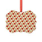 Christmas Clownfish Pattern Ornament