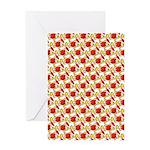 Christmas Clownfish Pattern Greeting Cards