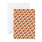 Christmas Clownfish Pattern Greeting Cards