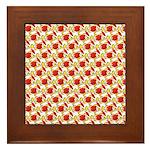 Christmas Clownfish Pattern Framed Tile